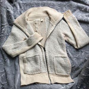ANTHRO Sleeping on Snow sweater cardigan cream XS